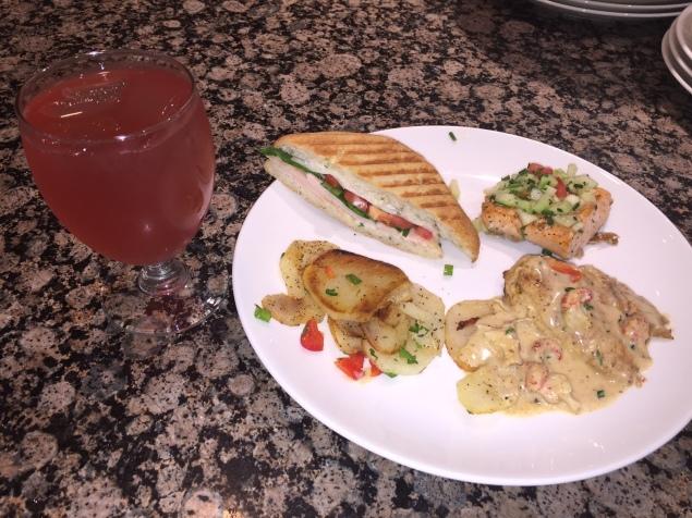 Chicken, Salmon, and Panini